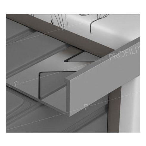 Profilplast Szögletes élvédő alumínium