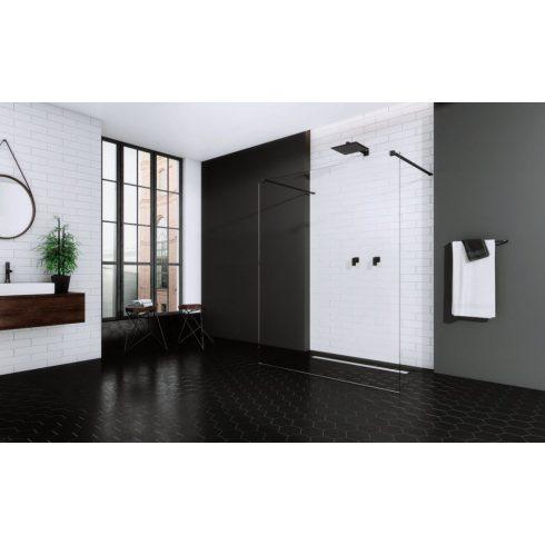 Radaway Modo New Black I Walk-in fekete zuhanyfal