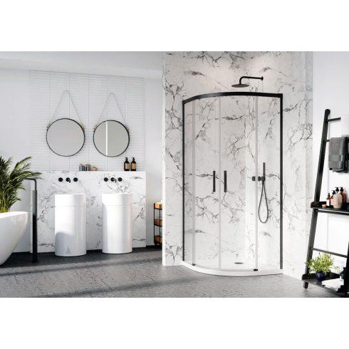 Radaway Idea Black PDD íves fekete zuhanykabin