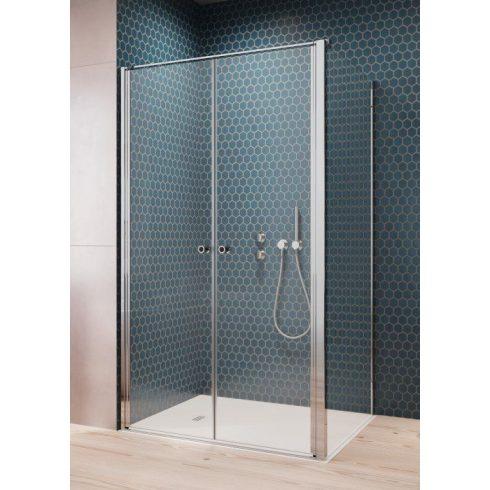 Radaway Eos DWD+S II szögletes zuhanykabin / Nyílóajtó+ oldalfal