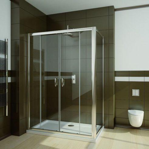 Radaway Premium Plus DWD+S szögletes zuhanykabin / Tolóajtó + oldalfal