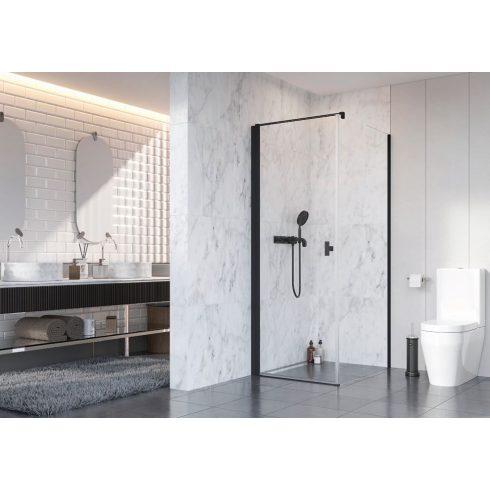 Radaway Nes Black KDJ I szögletes fekete zuhanykabin / Nyílóajtó + oldalfal