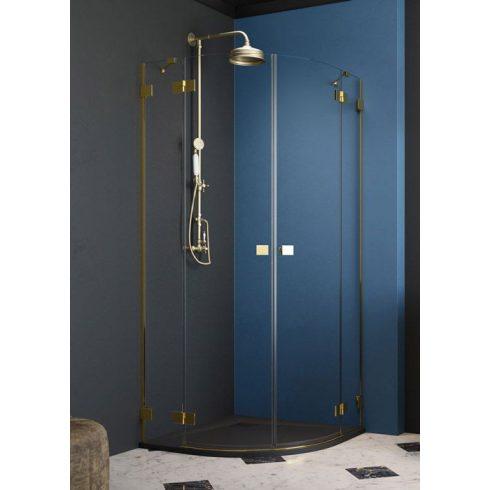 Radaway Essenza Pro Gold PDD íves arany zuhanykabin